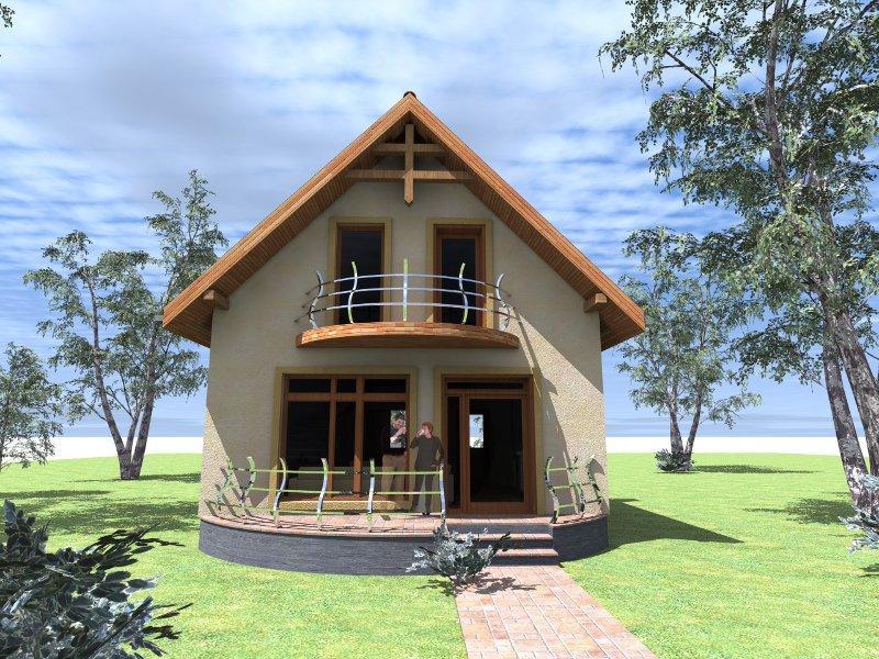 Proiect casa de lemn model ildiko promotie for Modele de balcon din lemn